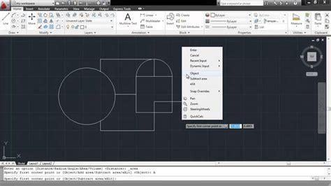 printable area autocad 2013 como calcular el area en autocad youtube