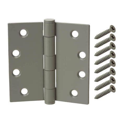 decorative door hinges everbilt 6 in x 425 in black heavy everbilt 4 1 2 in x 4 1 2 in prime coated commercial
