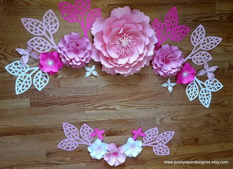 creative ideas paper flower wall decor clipgoo paper flower wall decor large paper flower backdrop giant