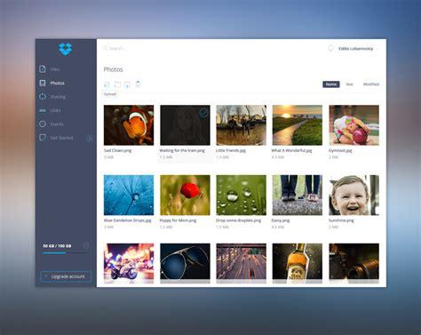 dropbox redesign redesigned dropbox ui kit free psd psdexplorer