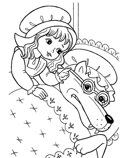 colouring sheet little red riding hood coloring pages
