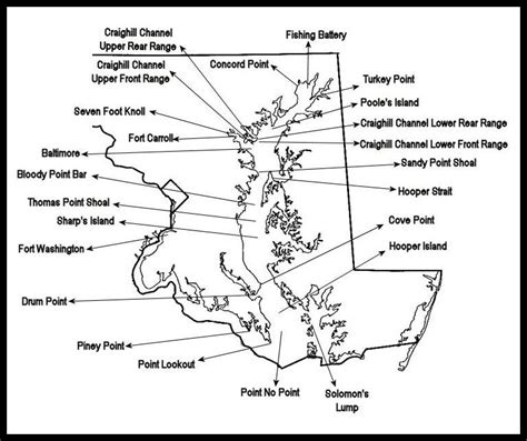 map of maryland lighthouses lighthouses in maryland