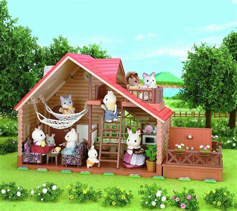 sylvanian families log cabin  dolls house boutique
