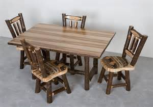 Hickory Dining Room Table Hickory Log Table Rustic Table Hickory Dining Room