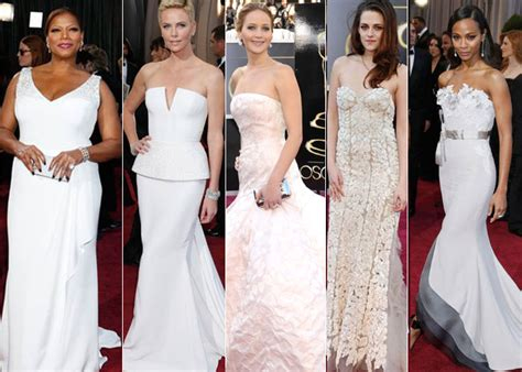 Oscar Trends To All White On The by Oscar 2013 Fashion Trends