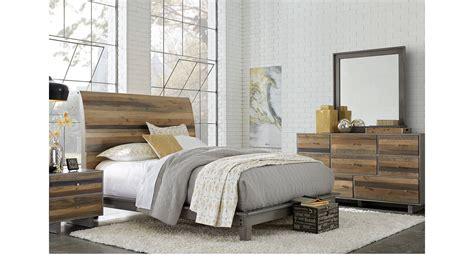nelson grey queen sleigh bedroom set the furniture mart moss creek gray 7 pc queen sleigh bedroom rustic