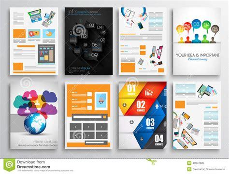 set of flyer design web templates brochure designs stock