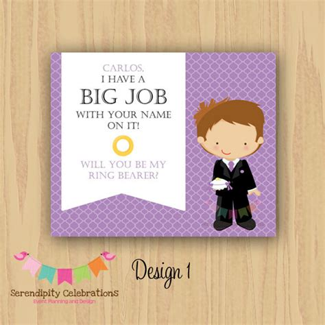 Ring Bearer Card Template by Diy Will You Be My Ring Bearer Groomsman Best