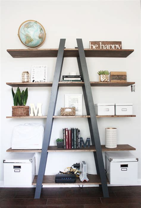 Diy Ladder Bookcase 16 West Elm Knockoffs You Need To Make Immediately The Most Viral Collection Of Feel