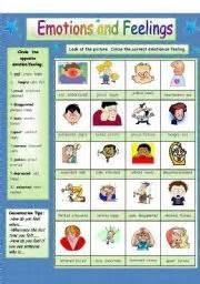 english worksheets feelings worksheets page 15