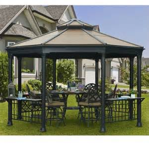 Sunjoy 13 Ft Royal Octagon Hardtop Gazebo by Sunjoy Octagonal Gazebo Bing Images