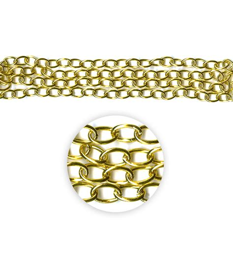 blue moon chain blue moon metal chain 14x10mm oval cable gold 42