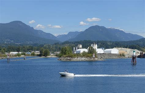 file burrard inlet with motorboat vancouver canada - Motorboat Vancouver