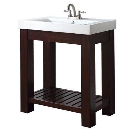 Open Shelf Bathroom Vanity 31 Inch Single Bathroom Vanity With Open Shelf Uvaclexivs30le31