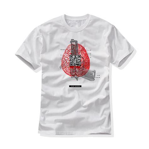 T Shirt Emerica B t shirt white brain bjs