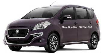Proton Prices Proton Badged Suzuki Ertiga Mpv Rendered 3 Versions Image
