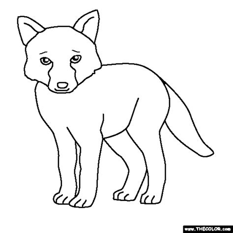 baby fox coloring pages coloring pages starting with the letter b