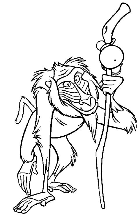 lion king rafiki coloring pages disney pictures