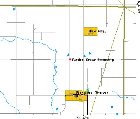 Garden Grove Iowa Map Garden Grove Township Decatur County Iowa Ia Detailed