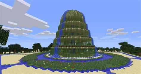 minecraft garden waterfall minecraft building
