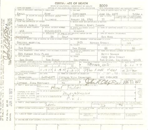 San Diego County Records Office Birth Certificate Genea Musings Treasure Chest Thursday Post 176