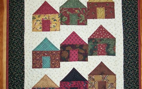 H Quilt Pattern by Busy Quilts Houses On A City Block Quilt
