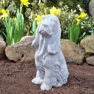 Garden Statues And Figurines Springer Spaniel Garden Statue Beautify The Yard With A
