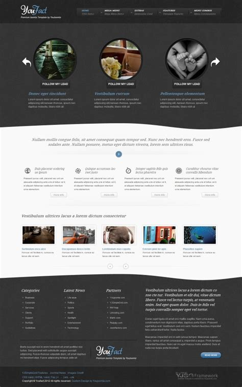 joomla category blog layout template youfact blog joomla template