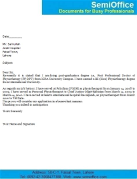Work Experience Certificate Physiotherapist Covering Letter For Physiotherapist