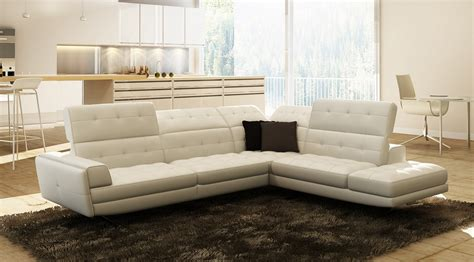 modern italian leather sectional divani casa olympus modern white italian leather sectional