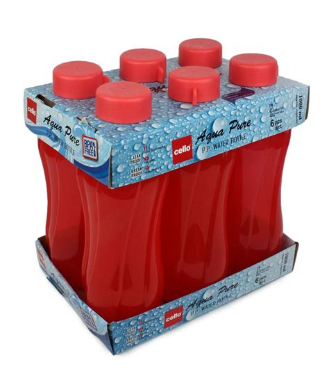 Pp Aqua cello aqua pp bottle 1000 ml set of 6 buy at best price in india snapdeal