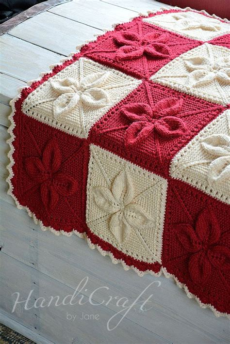 leaf pattern knitted blanket knitted baby blanket red and beige handmade blanket for