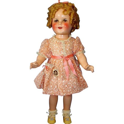 composition shirley temple doll all original 18 quot composition shirley temple make up doll