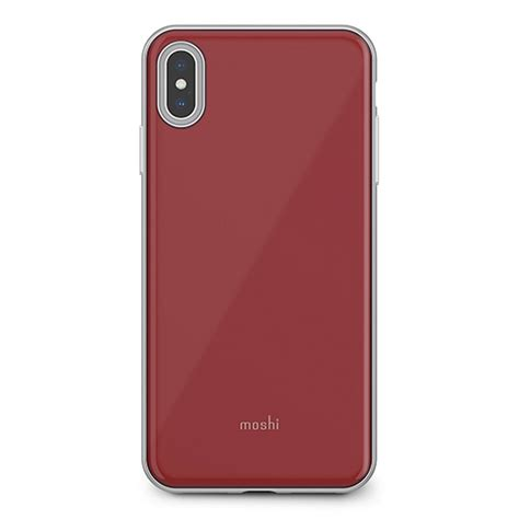 moshi iglaze cover  iphone xs max merlot red