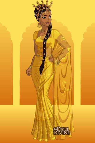 Syar I Gamis Dress sun goddess by hellenielsen82 created using the sari doll maker dolldivine
