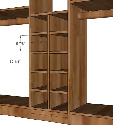 woodwork shoe closet plans  plans