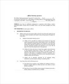 marketing services contract template 10 marketing agreement templates free sle exle