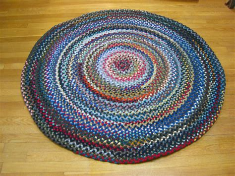 4 5 Quot Wool Round Braided Rug Country Braid House Braided Rugs