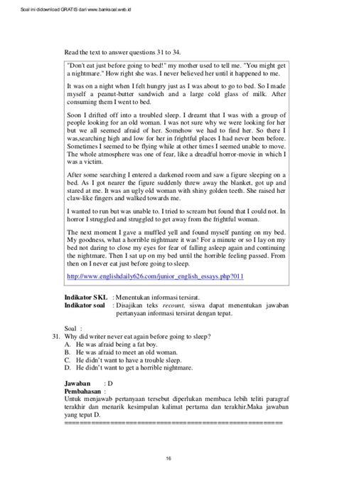 teks prosedur membuat sandwich soal dan pembahasan ujian nasional b inggris smp 2013 paket 3