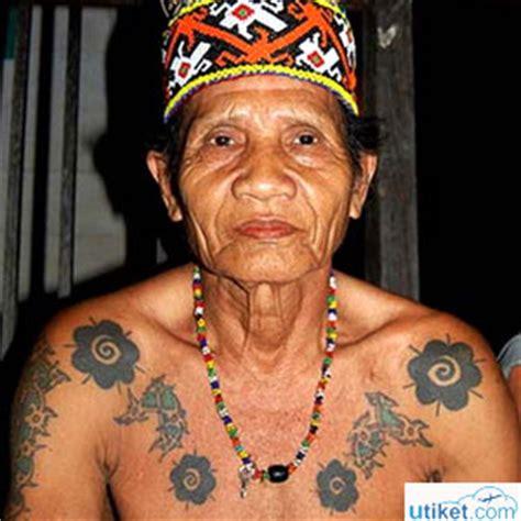 Tato Tradisi Dayak | sekilas tentang tari sajojo papua utiket