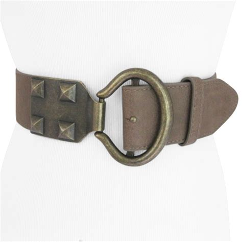 studded wide stretch belt for