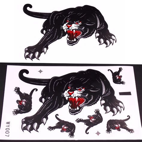 Stiker Black Panther Sticker Mobil motorcycle and car hoods trunk whole animal ferocious panther decal personalized car