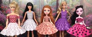 free dresses printable doll clothes