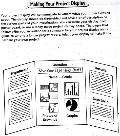 science project template science fair project outline pictures to pin on