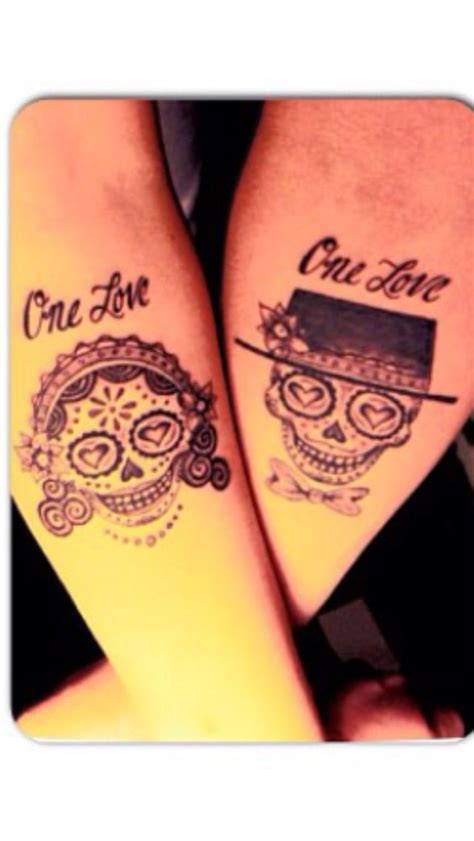 sugar skull couple tattoo sugar skulls one tattoos