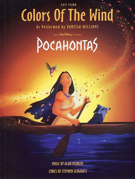 color of the wind alan menken colors of the wind pocahontas easy piano