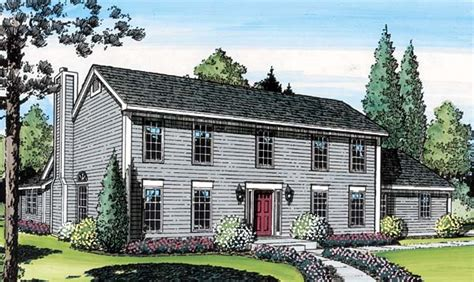 saltbox house plans with garage colonial saltbox home house plan 20136 at familyhomeplans com