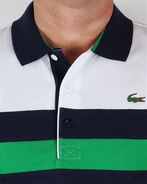 New Lacoste Navy And Green Tshirt For lacoste colour block tennis polo shirt white navy green mens