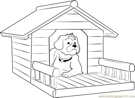 dog house coloring page dog house with porch coloring page free dog house coloring pages coloringpages101 com