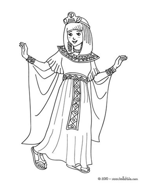 egyptian princess coloring page egypcian princess costume coloring pages hellokids com